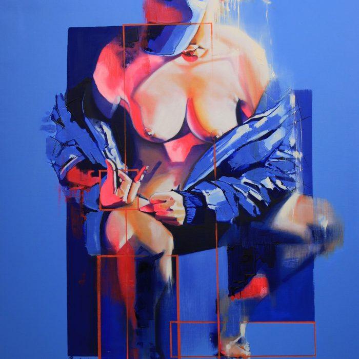 Badflygirl huile sur toile 116x89 2011