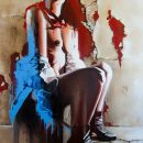 Streetcabaret huile sur toile 130x97 2014